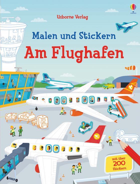 Cover-Bild Malen und Stickern: Am Flughafen