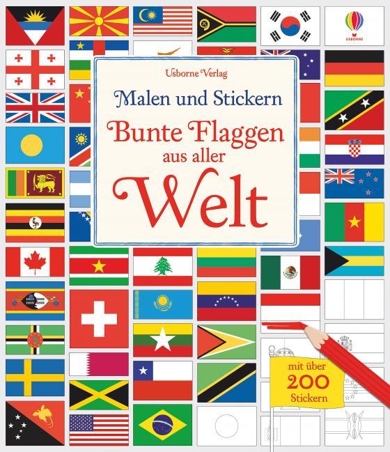 Cover-Bild Malen und Stickern: Bunte Flaggen aus aller Welt