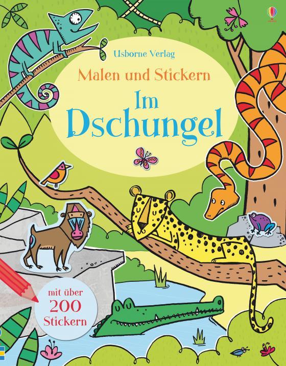 Cover-Bild Malen und Stickern: Im Dschungel