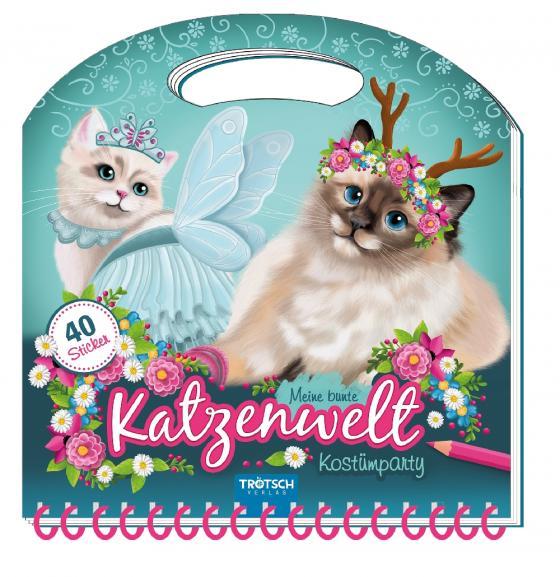 """Cover-Bild Maltasche """"Meine bunte Katzenwelt - Kostümparty"""" mit Glitzercover"""