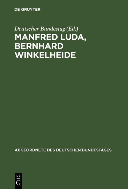 Cover-Bild Manfred Luda, Bernhard Winkelheide