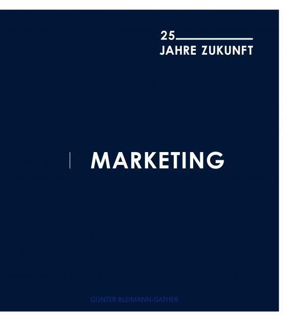 Cover-Bild Marketing - 25 Jahre Zukunft