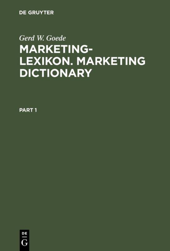 Cover-Bild Marketing-Lexikon. Marketing Dictionary