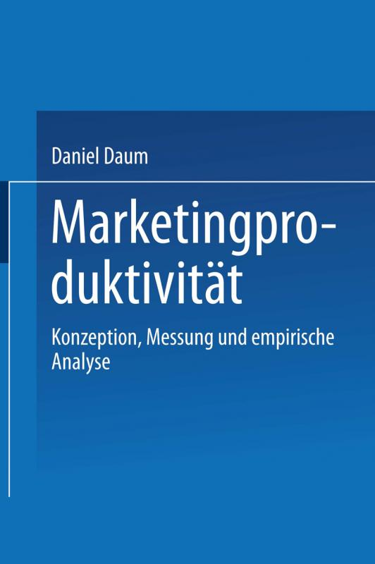 Cover-Bild Marketingproduktivität