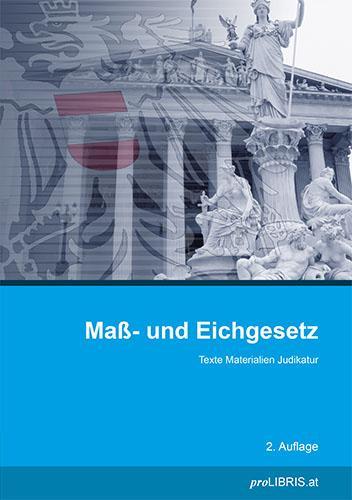 Cover-Bild Maß- und Eichgesetz
