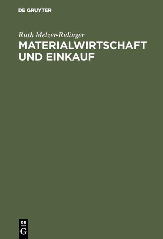 Cover-Bild Materialwirtschaft und Einkauf