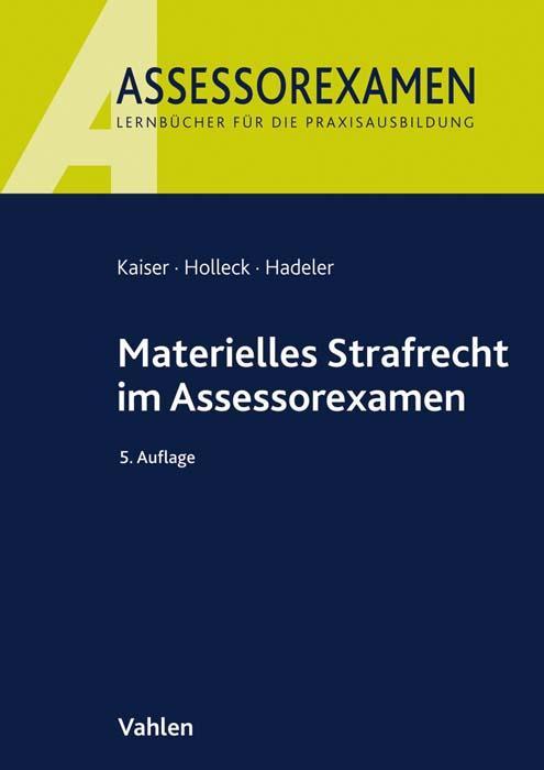 Cover-Bild Materielles Strafrecht im Assessorexamen