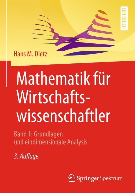 Cover-Bild Mathematik für Wirtschaftswissenschaftler