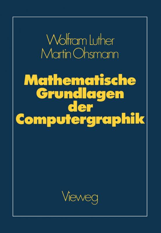 Cover-Bild Mathematische Grundlagen der Computergraphik