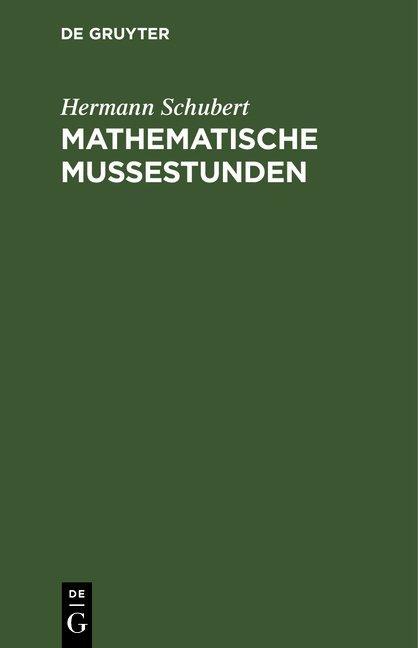 Cover-Bild Mathematische Mussestunden
