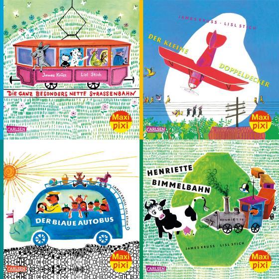 Cover-Bild Maxi-Pixi-4er-Set 75: Henriette Bimmelbahn und ihre Freunde (4x1 Exemplar)