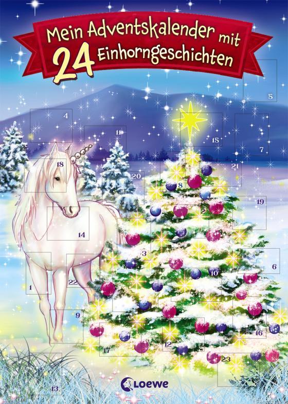Cover-Bild Mein Adventskalender mit 24 Einhorngeschichten