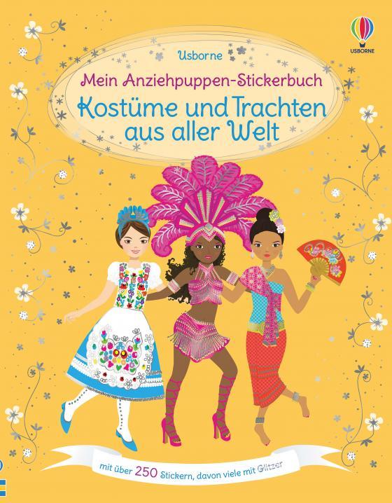 Cover-Bild Mein Anziehpuppen-Stickerbuch: Kostüme und Trachten aus aller Welt