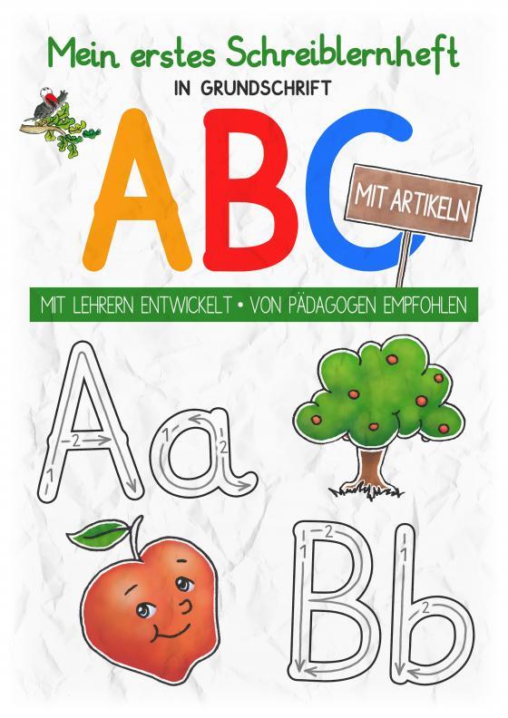 Cover-Bild Mein buntes Kinder-ABC in Grundschrift mit Artikeln