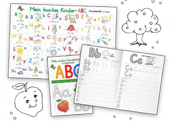 Cover-Bild Mein buntes Kinder-ABC-Set Grundschrift mit Artikeln