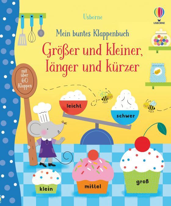 Cover-Bild Mein buntes Klappenbuch: Größer und kleiner, länger und kürzer