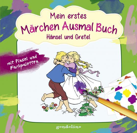 Cover-Bild Mein erstes Märchenausmalbuch mit Pinsel und Farbpalette: Hänsel und Gretel