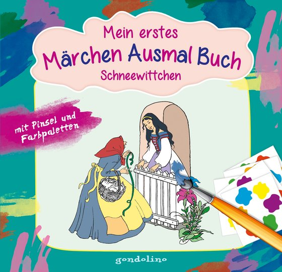 Cover-Bild Mein erstes Märchenausmalbuch mit Pinsel und Farbpalette: Schneewittchen