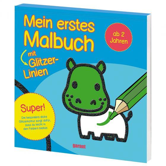Cover-Bild Mein erstes Malbuch mit Glitzer - Nilpferd