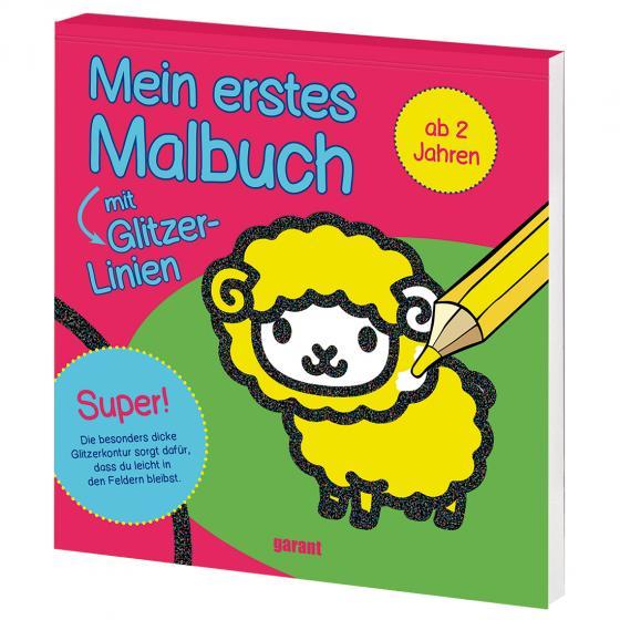 Cover-Bild Mein erstes Malbuch mit Glitzer - Schaf