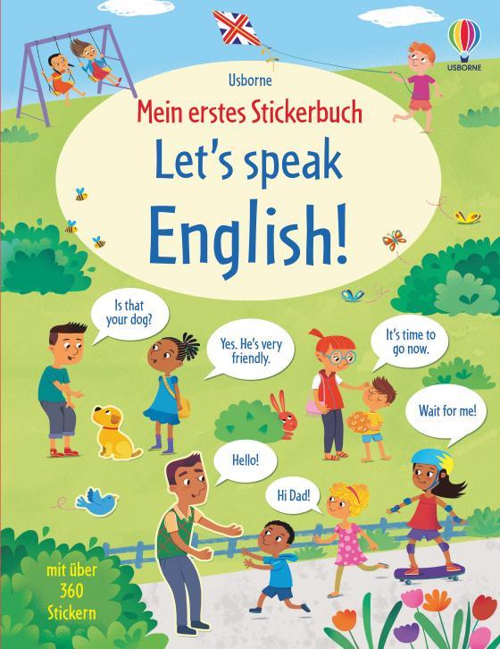 Cover-Bild Mein erstes Stickerbuch: Let's speak English!