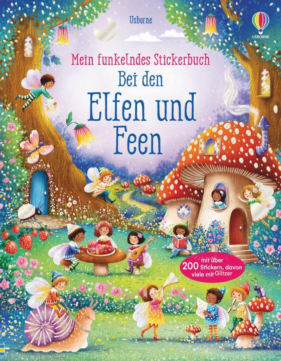 Cover-Bild Mein funkelndes Stickerbuch: Bei den Elfen und Feen