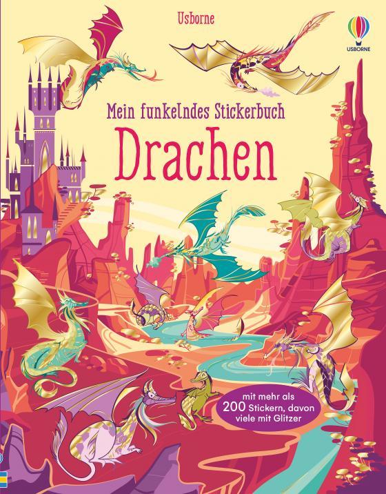 Cover-Bild Mein funkelndes Stickerbuch: Drachen
