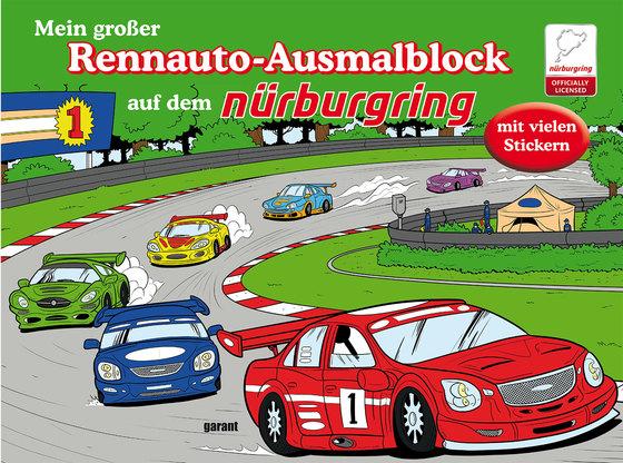 Cover-Bild Mein großer Rennauto-Ausmalblock