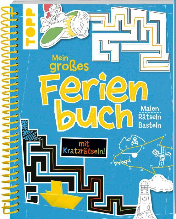 Cover-Bild Mein großes Ferienbuch mit Kratzrätseln! (Blau)