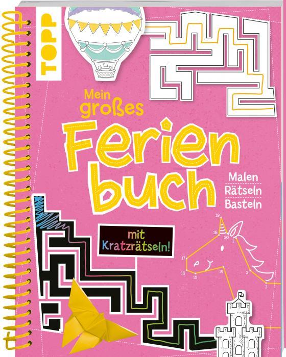Cover-Bild Mein großes Ferienbuch mit Kratzrätseln! (Pink)