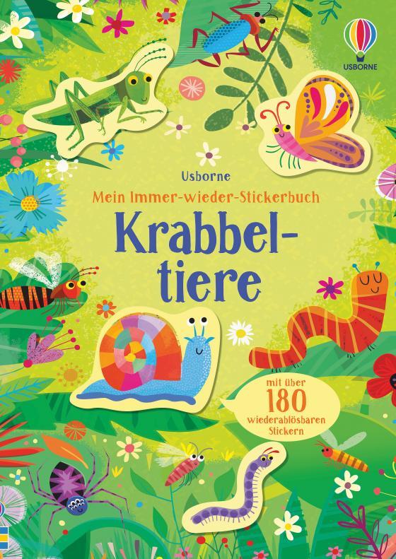 Cover-Bild Mein Immer-wieder-Stickerbuch: Krabbeltiere