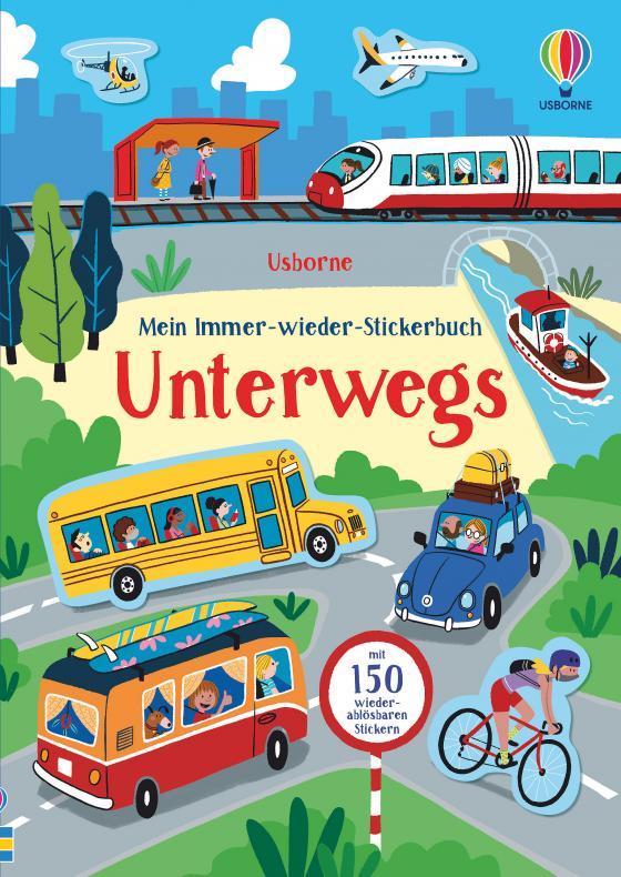 Cover-Bild Mein Immer-wieder-Stickerbuch: Unterwegs