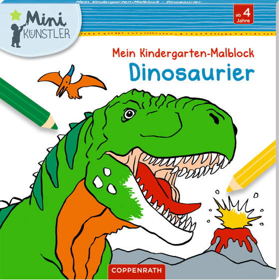 Cover-Bild Mein Kindergarten-Malbock: Dinosaurier