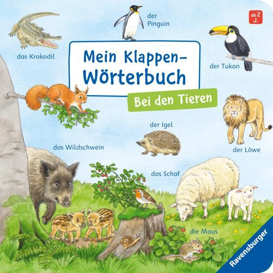 Cover-Bild Mein Klappen-Wörterbuch: Bei den Tieren