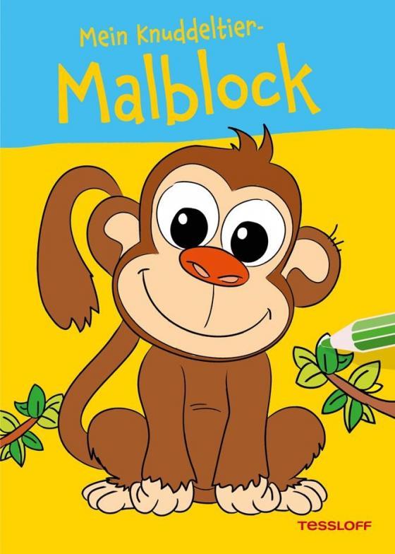 Cover-Bild Mein Knuddeltier-Malblock (Affe). Ab 4 Jahren