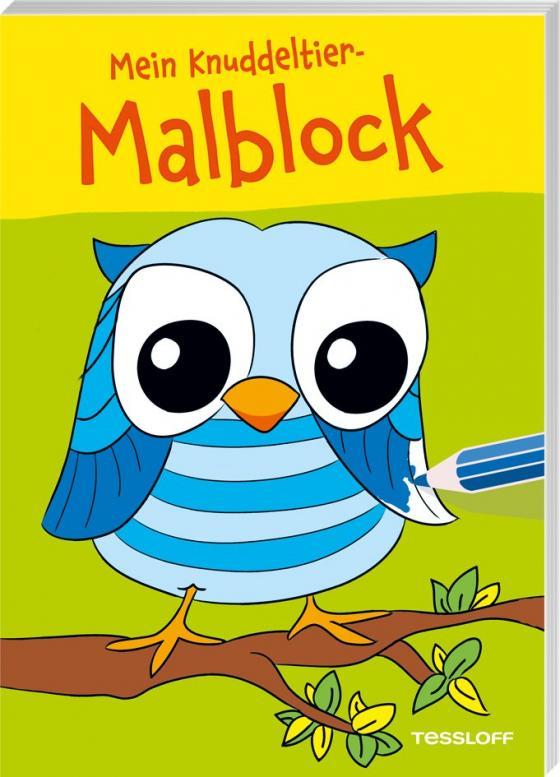 Cover-Bild Mein Knuddeltier-Malblock (Eule). Ab 4 Jahren
