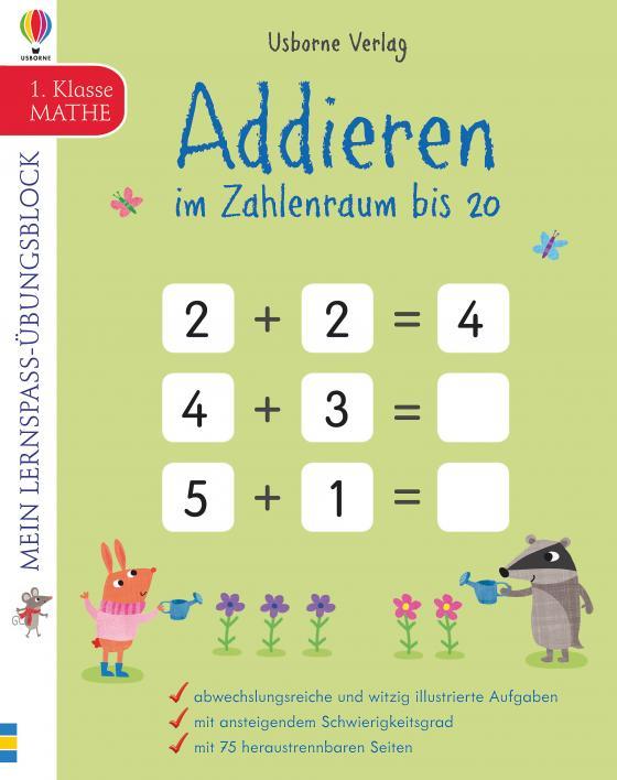 Cover-Bild Mein Lernspaß-Übungsblock: Addieren im Zahlenraum bis 20