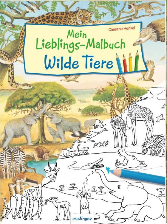 Cover-Bild Mein Lieblings-Malbuch – Wilde Tiere