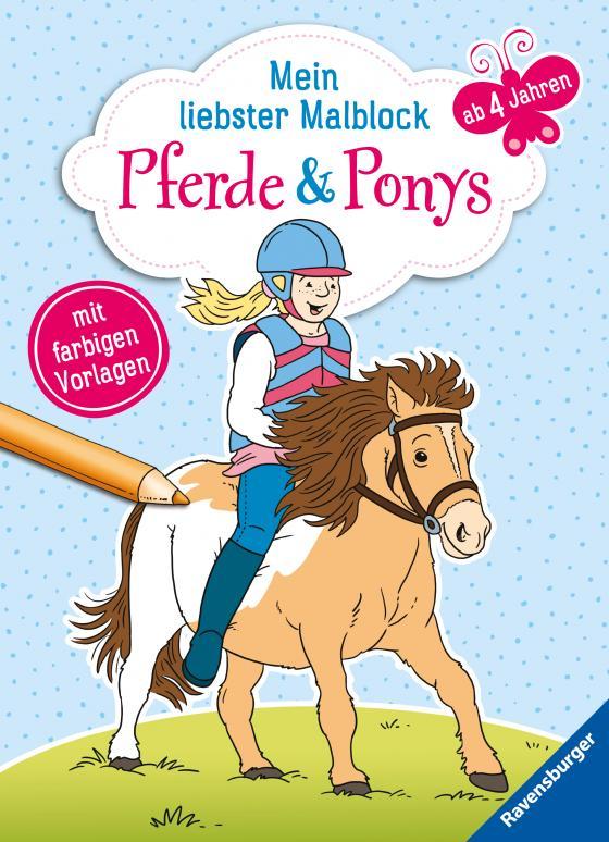 Cover-Bild Mein liebster Malblock: Pferde & Ponys
