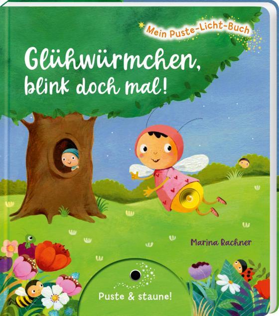 Cover-Bild Mein Puste-Licht-Buch: Glühwürmchen, blink doch mal!