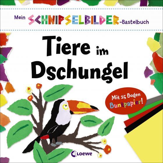 Cover-Bild Mein Schnipselbilder-Bastelbuch - Tiere im Dschungel