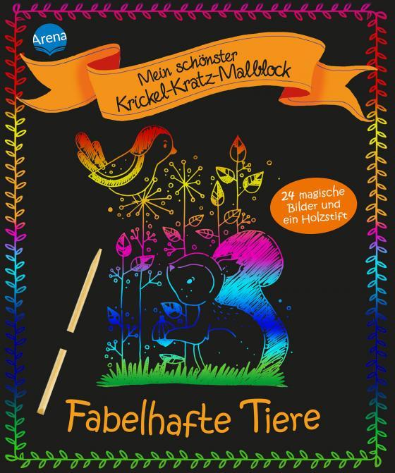Cover-Bild Mein schönster Krickel-Kratz-Malblock. Fabelhafte Tiere