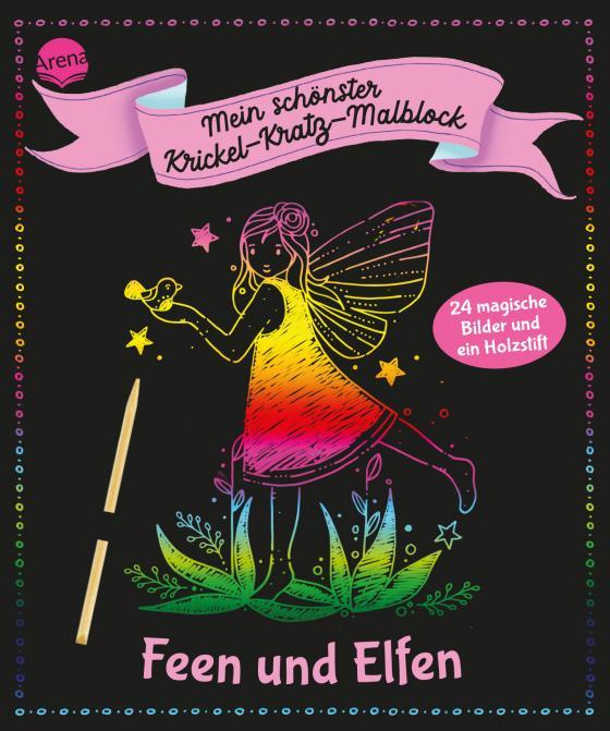 Cover-Bild Mein schönster Krickel-Kratz-Malblock. Feen und Elfen
