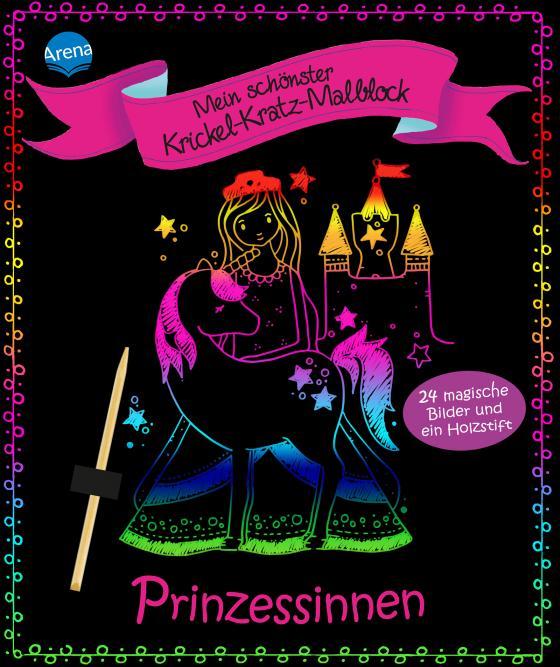 Cover-Bild Mein schönster Krickel-Kratz-Malblock. Prinzessinnen