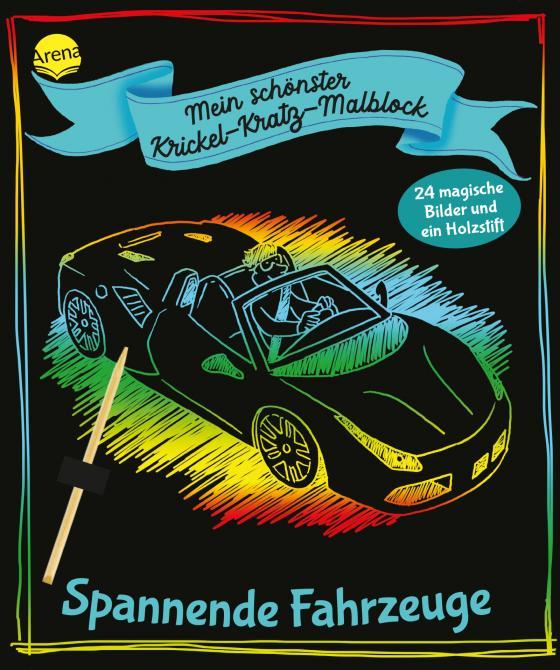Cover-Bild Mein schönster Krickel-Kratz-Malblock. Spannende Fahrzeuge