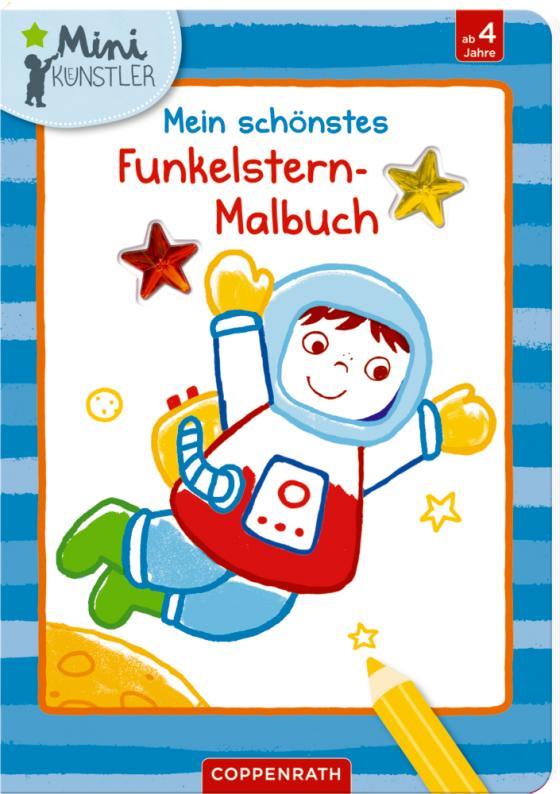 Cover-Bild Mein schönstes Funkelstern-Malbuch (Astronaut)
