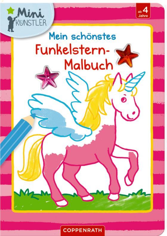 Cover-Bild Mein schönstes Funkelstern-Malbuch (Einhorn)