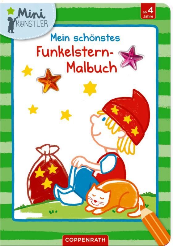 Cover-Bild Mein schönstes Funkelstern-Malbuch (Sandmännchen)