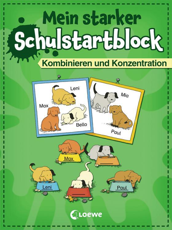 Cover-Bild Mein starker Schulstartblock - Kombinieren und Konzentration