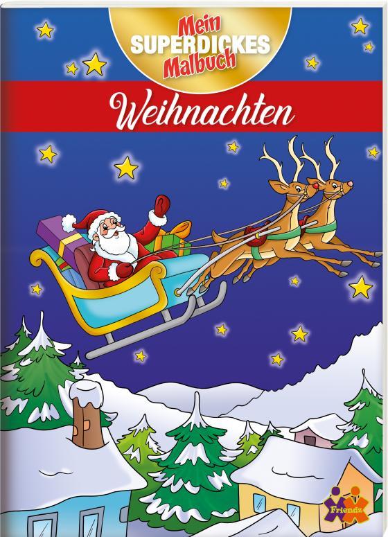 Cover-Bild Mein superdickes Malbuch. Weihnachten